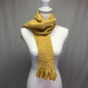 Accessories - Handmade Mustard Thick Knit Scarf